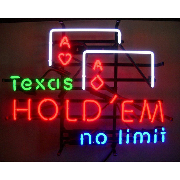 Neonetics Texas Hold Em Neon Sign 5Texas Neon Signs