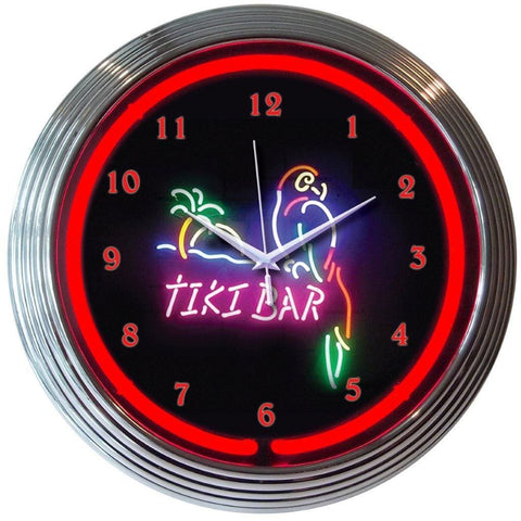 Neonetics Tiki Bar Neon Clock 8Tikix Neon Signs