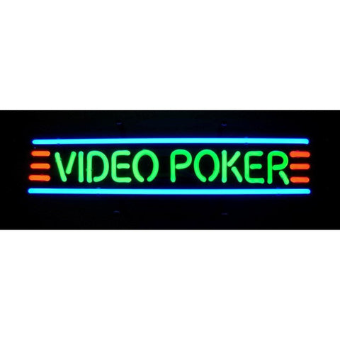 Neonetics Video Poker Neon Sign 5Video Neon Signs