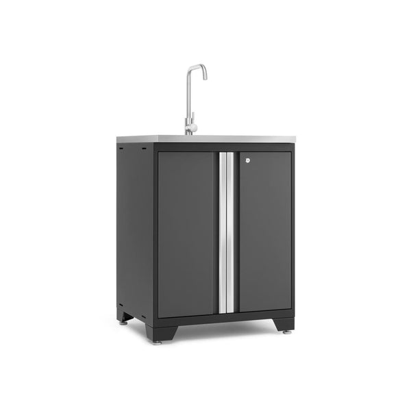 Newage Products Pro 3.0 Series Gray Garage Sink Cabinet 52014 Garage Storage Cabinets Pro 3.0