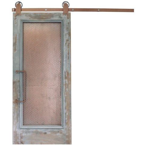 Rustica 3 ft. width x 7 ft. height Abandoned Barn Door with Hardware Kit Rustica Barn Doors