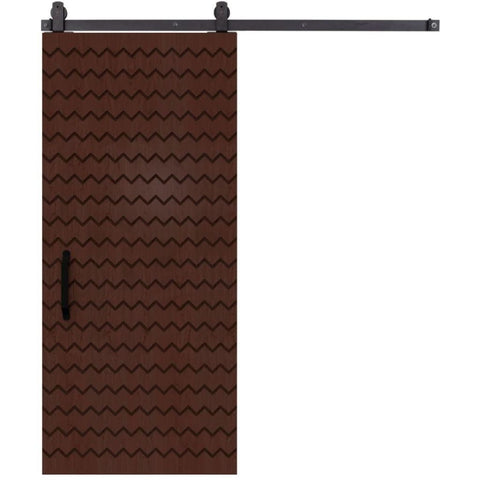 Rustica 3 ft. width x 7 ft. height Alta Barn Door with Hardware Kit Rustica Barn Doors