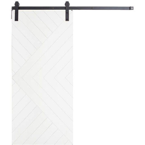 Rustica 3 ft. width x 7 ft. height Aztec Barn Door with Hardware Kit Rustica Barn Doors