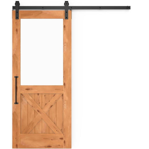 Rustica 3 ft. width x 7 ft. height Backwoods Barn Door with Hardware Kit Rustica Barn Doors