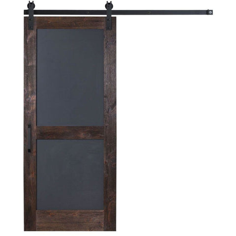 Rustica 3 ft. width x 7 ft. height Chalkboard Barn Door with Hardware Kit Rustica Barn Doors