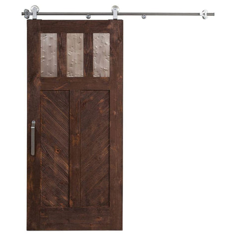 Rustica 3 ft. width x 7 ft. height Chevron Barn Door with Hardware Kit Rustica Barn Doors