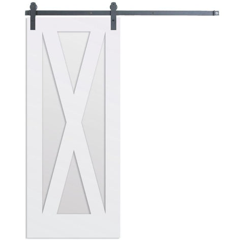 Rustica 3 ft. width x 7 ft. height Contemporary X Barn Door with Hardware Kit Rustica Barn Doors