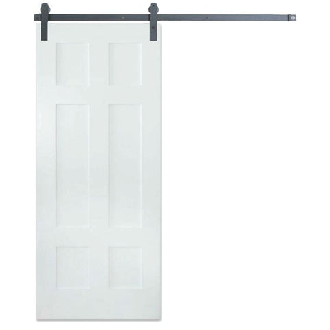 Rustica 3 ft. width x 7 ft. height Contemporary Classic 6 Panel Barn Door with Hardware Kit Rustica Barn Doors