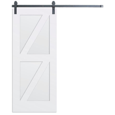 Rustica 3 ft. width x 7 ft. height Contemporary Double Z Barn Door with Hardware Kit Rustica Barn Doors
