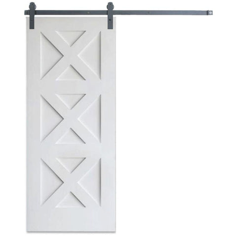 Rustica 3 ft. width x 7 ft. height Contemporary Panel Barn Door with Hardware Kit Rustica Barn Doors