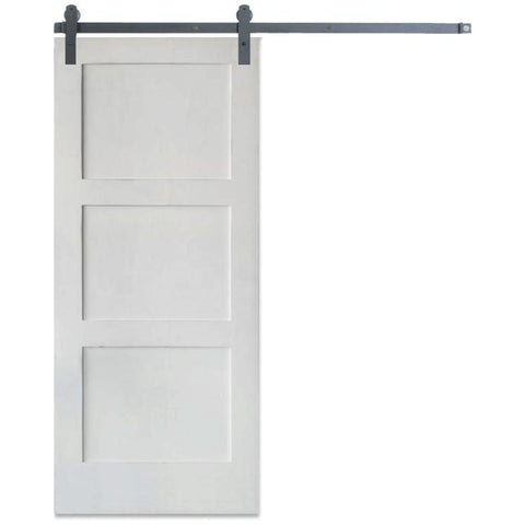 Rustica 3 ft. width x 7 ft. height Contemporary 3 Panel Barn Door with Hardware Kit Rustica Barn Doors