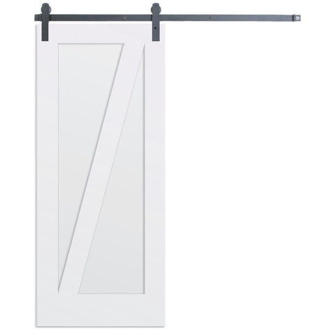 Rustica 3 ft. width x 7 ft. height Contemporary Z Barn Door with Hardware Kit Rustica Barn Doors