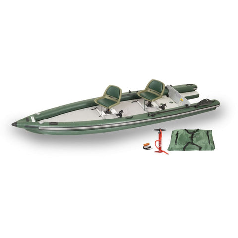 Sea Eagle FishSkiff 16 Inflatable Fishing Boat 2 Person Swivel Seat Package FSK16K_SW Sea Eagle FishSkiff