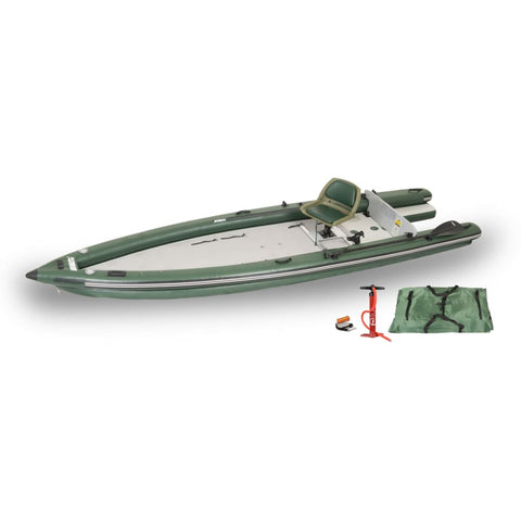 Sea Eagle FishSkiff 16 Inflatable Fishing Boat Solo Start Up Package FSK16K_ST Sea Eagle FishSkiff