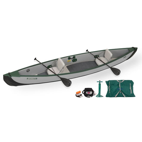 Sea Eagle Travel Canoe 16 Inflatable Canoe 2 Person Electric Pump Package TC16K_EP Sea Eagle Travel Canoes