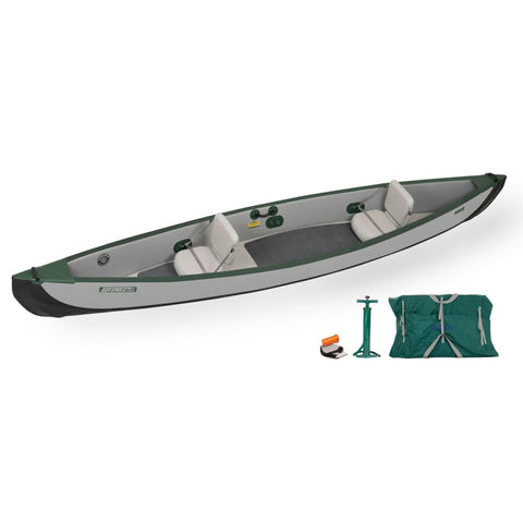 Sea Eagle Travel Canoe 16 Inflatable Canoe Basic Package TC16K_B Sea Eagle Travel Canoes