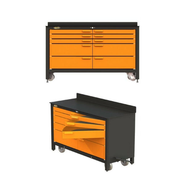 Swivel Pro 60 Movable Workbench-Pro6035 10 Drawer Workbench