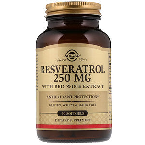 Resveratrol 250mg 60 softgels