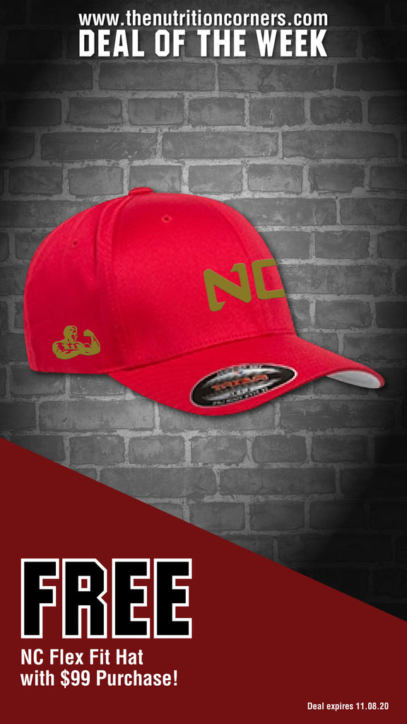 NC Fitted Hat Red w/ gold