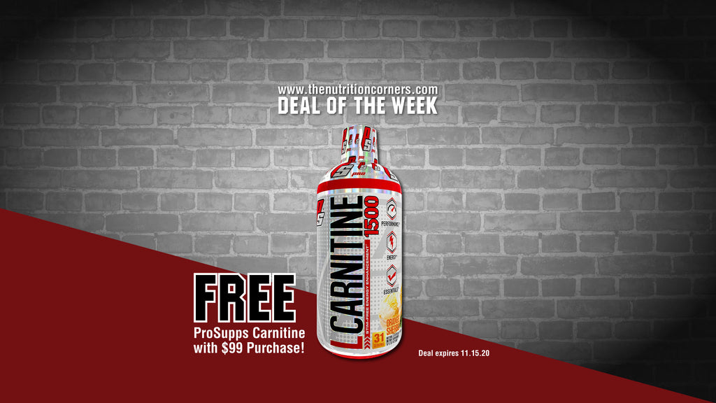 Deal of the week: FREE Pro Supps Carnitine w/$99 purchase