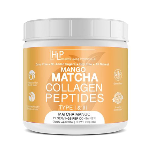 Matcha Collagen Peptides Mango