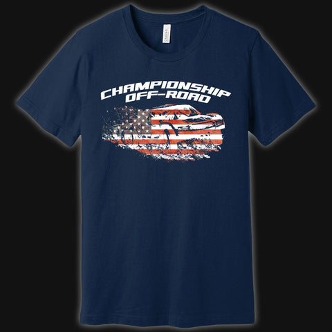 Red, White, & Off-Road Truck Tee