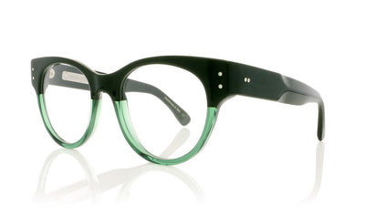 Claire Goldsmith Irwin 13 Green On Jade Glasses