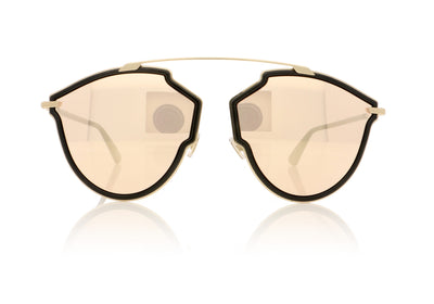Dior SOREALRISE 2M2SQ Black Gold Sunglasses