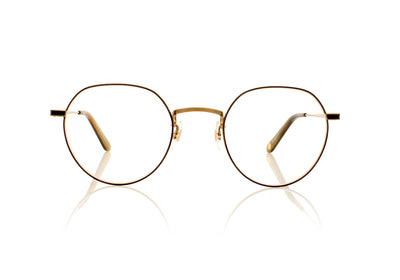 Garrett Leight Robson BG-WHT Brushed Gold Glasses