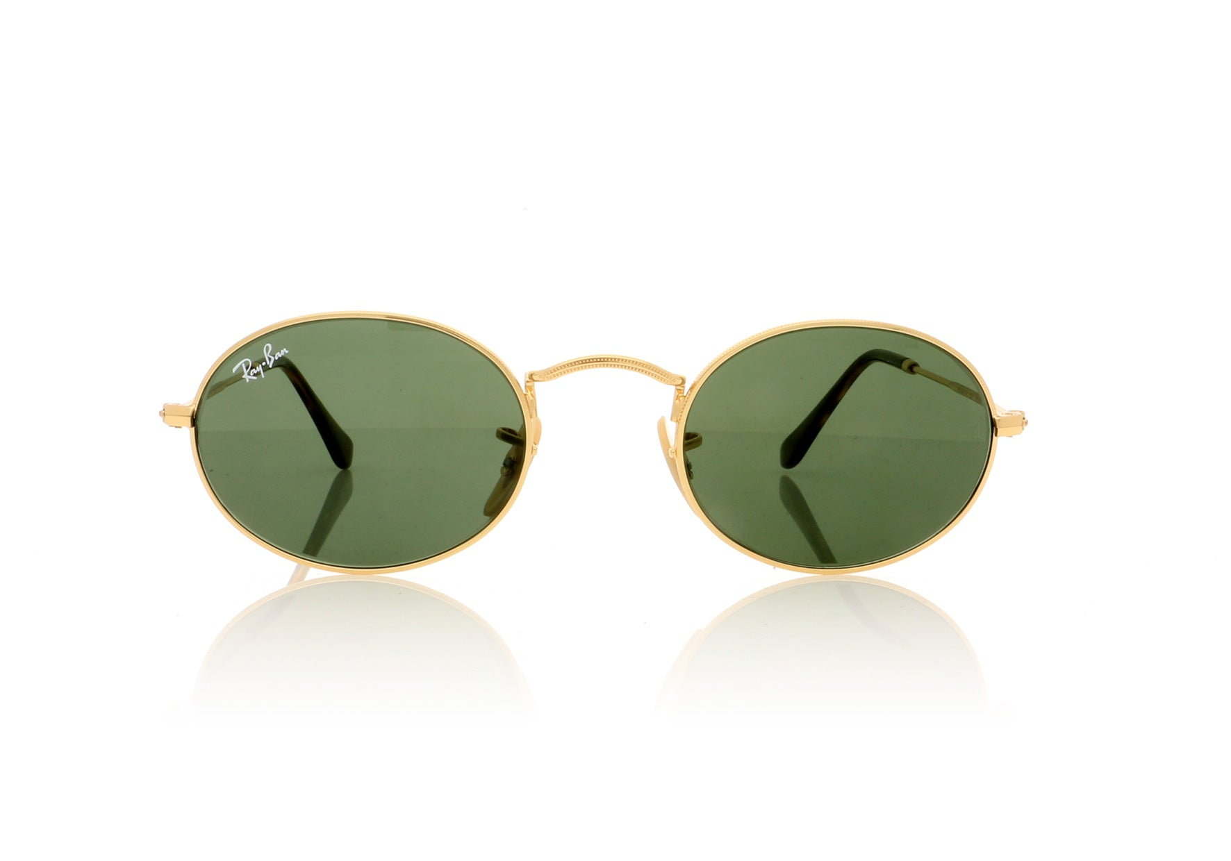 a8c237ca8fc Ray-Ban Oval RB3547N 001 Gold Sunglasses