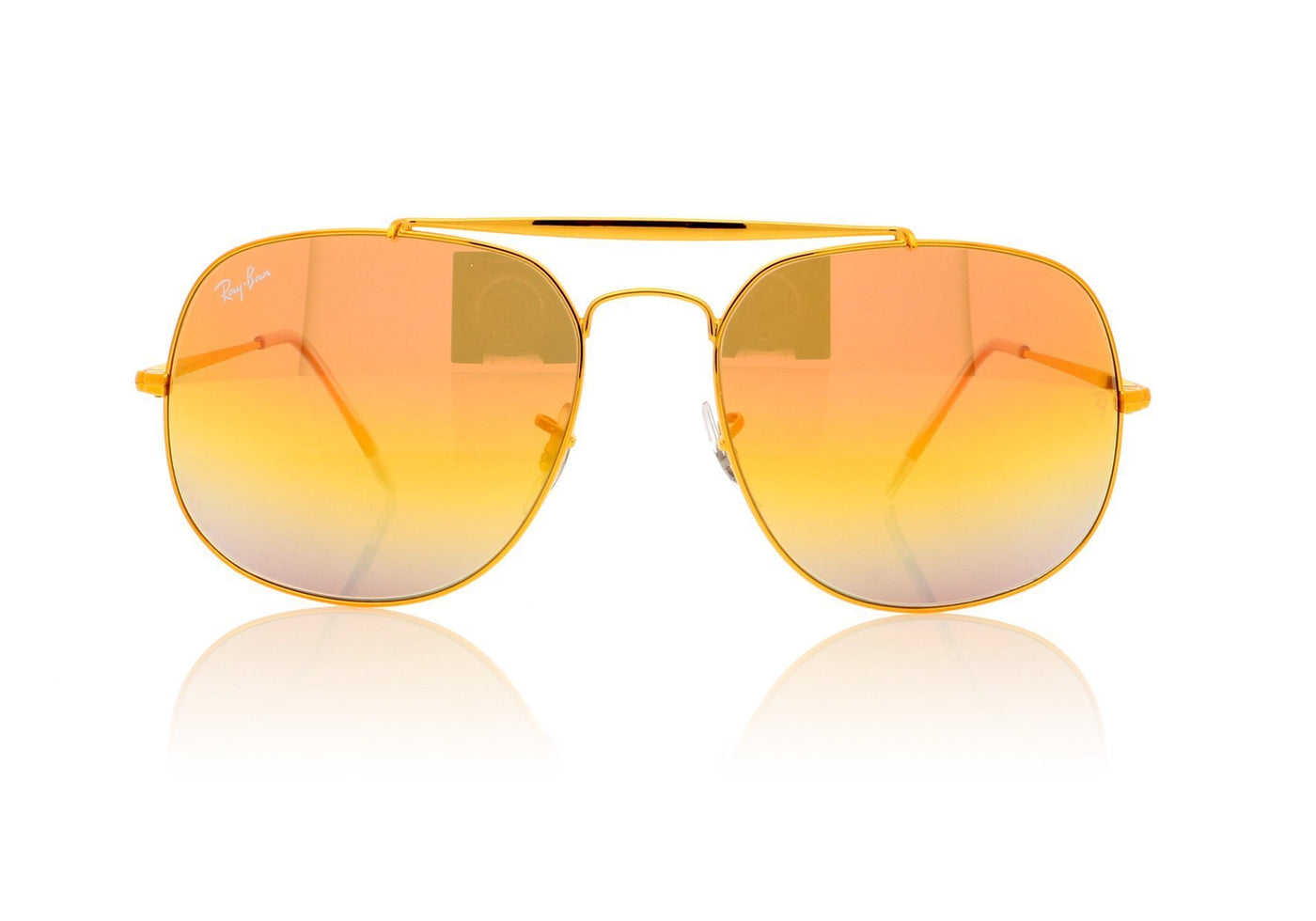 872222abd1 Ray-Ban General 0RB3561 001 Gold Sunglasses at OCO