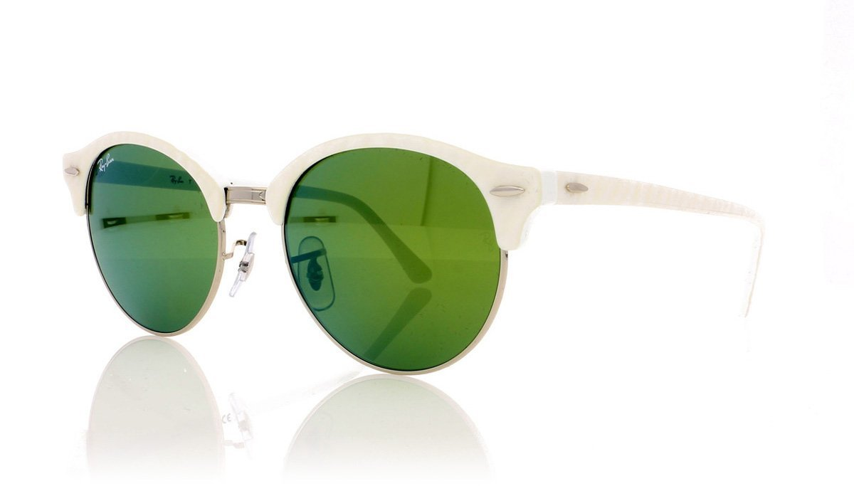 eb973d766b3 Ray-Ban Clubround RB4246 988 2X White Sunglasses at OCO