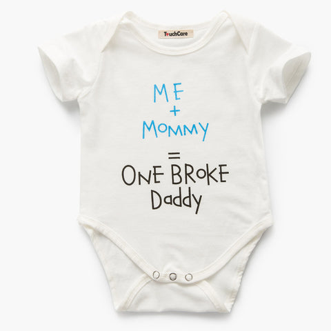 09608b753 Baby Boy Girl Romper Letters Cotton Baby Clothes Triangular Baby ...