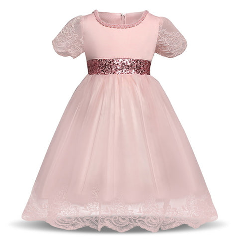 Ai Meng Baby Girl Dress Infant Party Dresses For Toddler Tulle Lace Flower Wedding