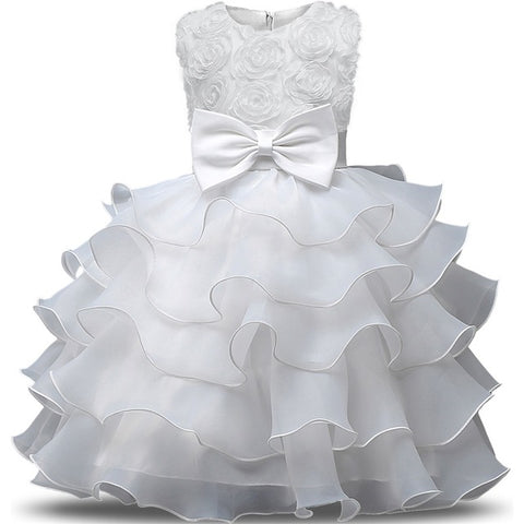 Flower Girl Dress Bebes Children Clothing Wedding Party Girls Dresses First  Birthday Clothes Newborn Princess Infant