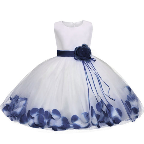 Ai Meng Baby Girl Flower Wedding Party Dress Fancy Baby Kids Girls