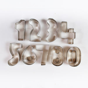 Number Metal Cutters - 10 piece