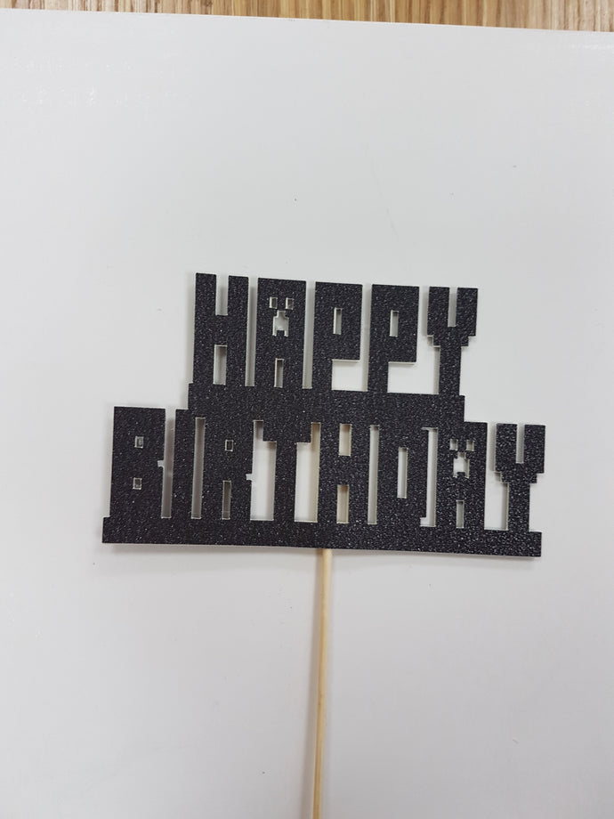 HAPPY BIRTHDAY  glitter card topper