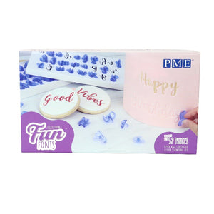 PME Fun Fonts Stamp Set