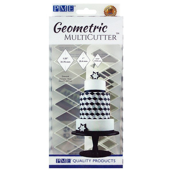 PME Geometric Multi Cutter - Diamond - Set of 3