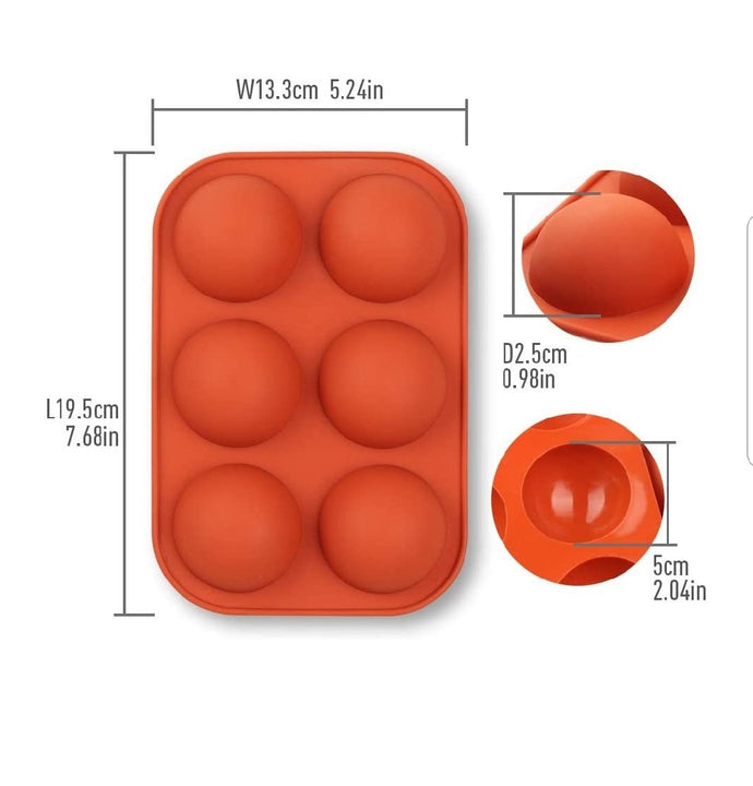 Silicone  Half Sphere (Chocolate Bomb) Mould