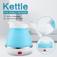 Electric Kettle 0.75L Silicone Foldable Portable Travel Camping Water Boiler