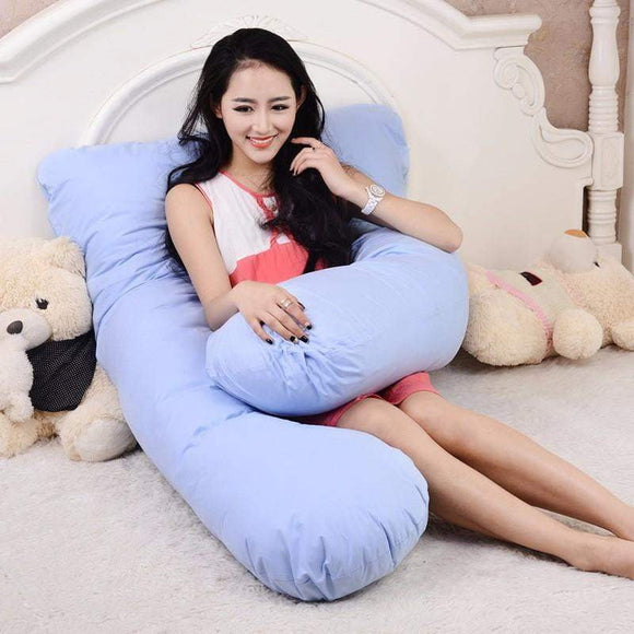 100% Cotton U Shape Full Body Pillow Pregnancy Maternity Sleep Pillows Sleeping Pain Relief Cushion