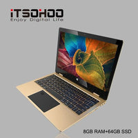 Netbook  Laptop 11.6 inch 2 in 1 convertible touch screen 8GB RAM IPS Screen 192GB dual band wifi iTSOHOO 360 degree laptop