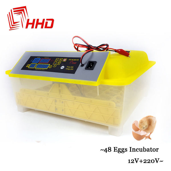 Egg Hatchery Machine, 12V  220V Full automatic 48 Chicken egg incubator, Poultry Chicken Egg Brooder - inaaz.biz