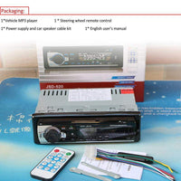12V Bluetooth Car Radio Player Stereo FM MP3 Audio 5V-Charger USB SD AUX  1 DIN NO DVD JSD - inaaz.biz