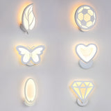 LED Acrylic wall light 12W Children's room bedside wall lamps arts creative Corridor Aisle Sconce Decor Lamp