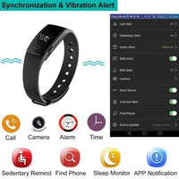 Heart Rate Monitor Smart Wristband Armband Step Counter Band for Iphone and Android