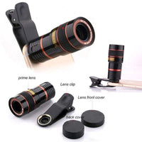 8x Zoom Portable Mobile Phone Telephoto Camera Lens and Clip