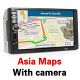 2 Din Car Multimedia Player+GPS Navigation+Camera Map 7'' HD Touch Screen Bluetooth Autoradio MP3 MP5 Video Stereo Radio NO DVD - inaaz.biz